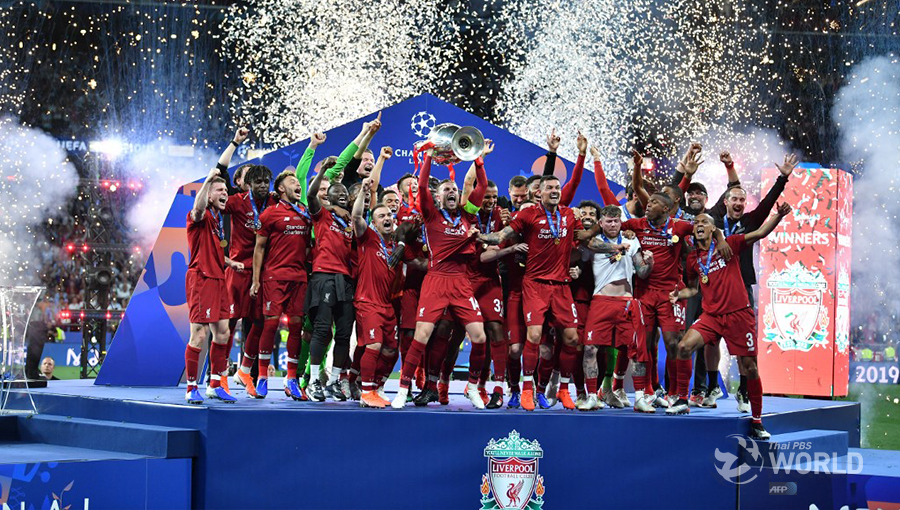 Liverpool Beats Tottenham 2 0 To Win Sixth European Title Thai Pbs World The Latest Thai News In English News Headlines World News And News Broadcasts In Both Thai And English