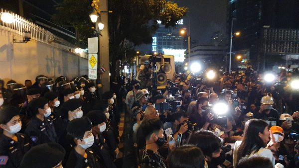 Protesters end rally at Bangkok's German Embassy