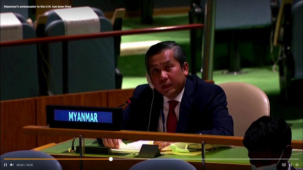 Myanmar's U.N. ambassador vows to fight after junta fired him