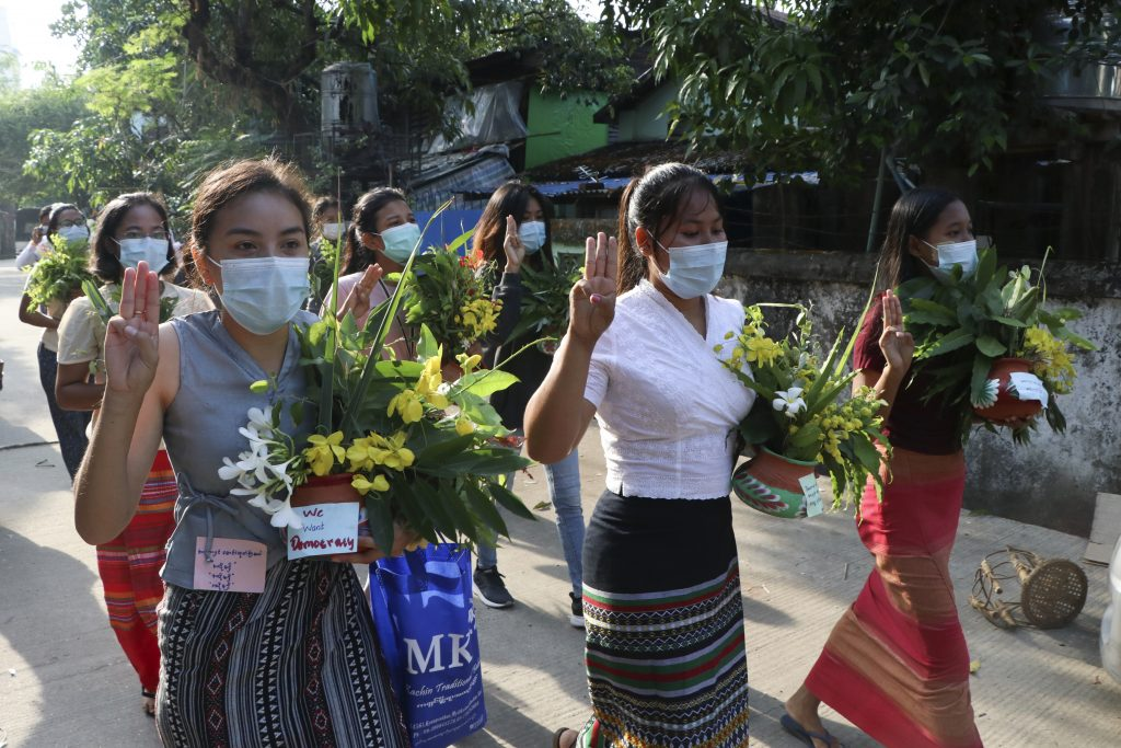 Myanmar activists cancel new year festivities, hold silent protests