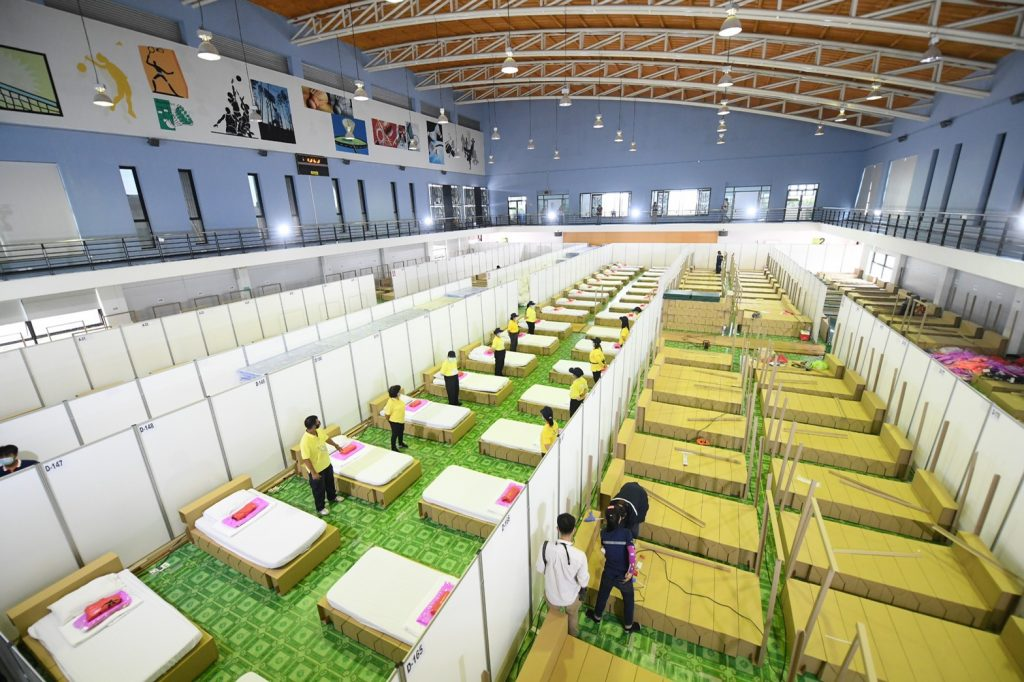 Bang Bon field hospital opens to accept first 10 COVID-19 patients