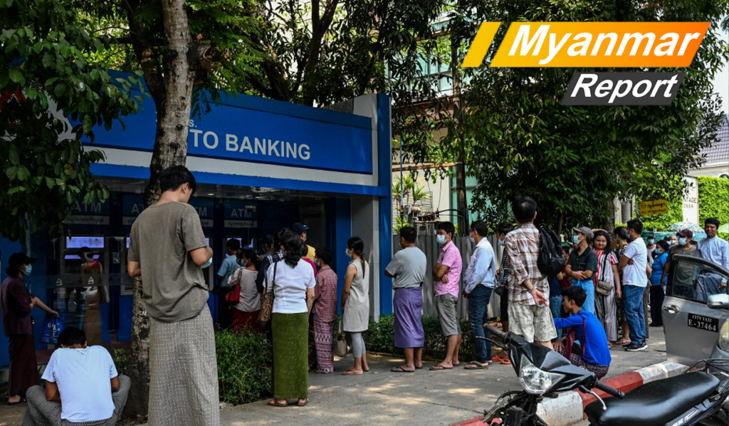 Myanmar Report: Forget COVID-19 and line up from 4am for minutes with the ATMs