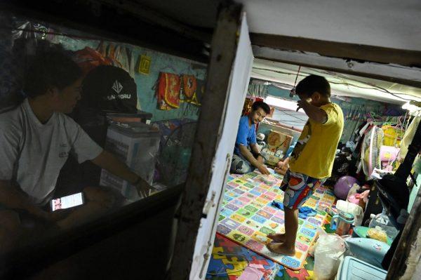 Poverty slum Bangkok