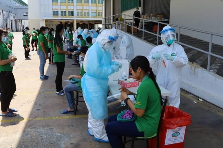 Cal-Comp Electronics, 682 employees infected, 14 days, Petchaburi